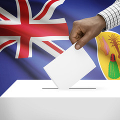 Ballot box with national flag series - Turks and Caicos Islands