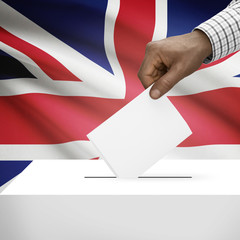 Ballot box with national flag series - United Kingdom