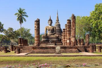 Main chapel in Wat Maha That, Shukhothai Historical Park, Thaila