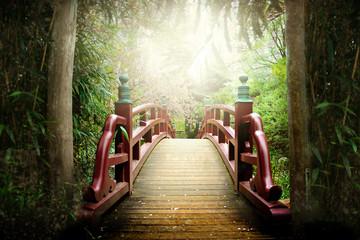 Spoed Fotobehang Japan Japanische Brücke