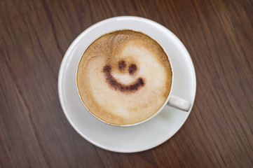 Coffee with beautiful smile.