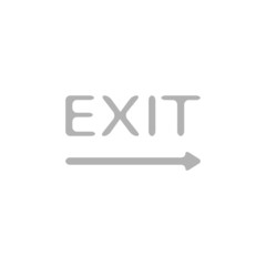 Simple icon exit sign.