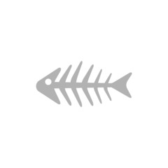 Simple icon skeleton fish.