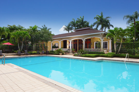 Swimming pool community amenity