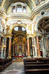 The nave of San Lorenzo Church, Turin