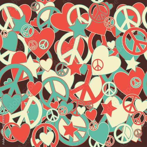 Military Camouflage Love And Peace Sign Stock Image And Royalty