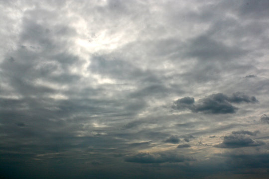 Dramatic sky scene with coulds