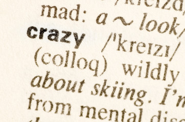 Wonderful Dictionary Definition Of Word Crazy