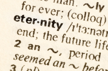 Dictionary definition of word eternity