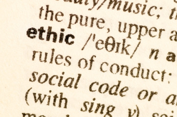 Dictionary definition of word ethic