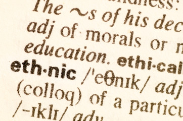 Dictionary definition of word ethnic