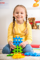 Girl with lego