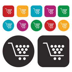 shopping cart icon / trolley icon