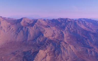 Alien landscape, fantastic planet
