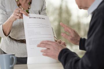 Demanding divorce