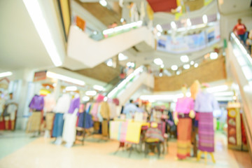 Blurred store with bokeh background.