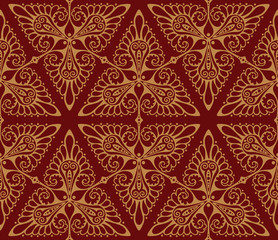 Seamless vector background pattern with triangle motifs
