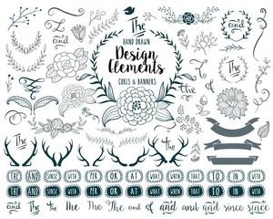 Hand drawn vector elements