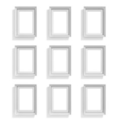 Blank picture frames. Website background template