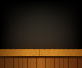 Background with wooden theater scene. Banner for your cultural e