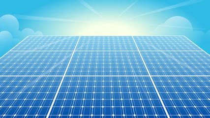 Solar Panels, Solar Power, Sun, Blue Sky