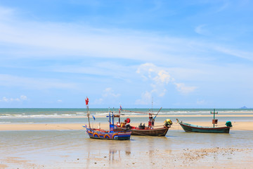 Traditional fishing boat on the beach