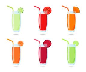 Set 6 vegetable juice
