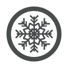 Icono redondo simbolo frio gris
