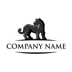 Elegant Black Panther Logo