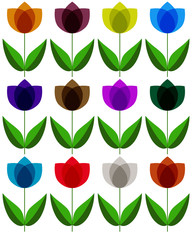 Floral background on wight. Vector