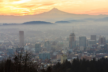 Fototapete - Beautiful Vista of Portland, Oregon