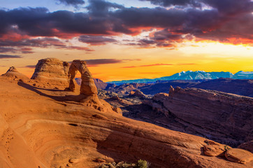 Panorama of Arches National Park