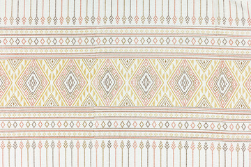 Local north Thailand pattern design made fabric and silk