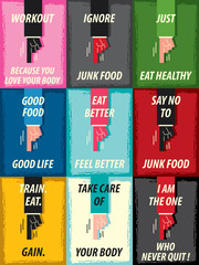 Words HEALTHY MOTIVATION