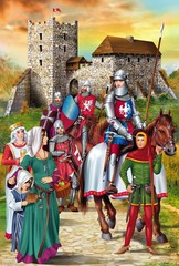 Medieval Knights Illustration