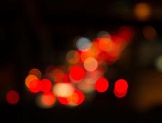 De focused of night cityใBokeh effect lighting