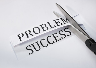 Concept of success overcoming problems
