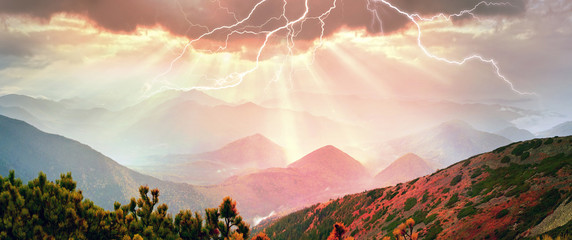 Wall Mural - Rays through the storm