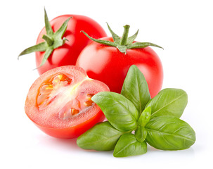 Tomato with basil
