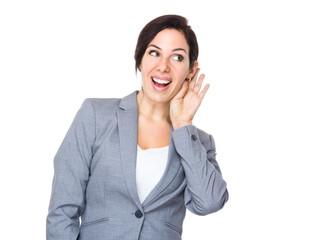 Businesswoman gossip about other