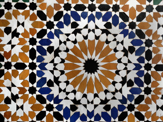 Details from Moroccan palaces