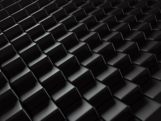 Abstract Metallic Black Blocks Background