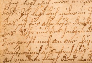 Fragment of an old handwritten letter. It was written in 1820.