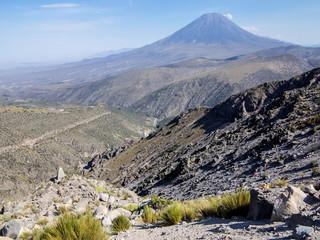 Misti volcano in the Peruvian Andes