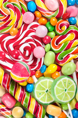 Fototapete - Colorful different candy