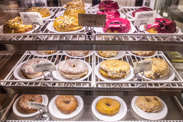 Assorted doughnuts at NYC Gavsevoort Market