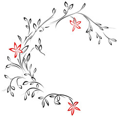 Floral tattoo design