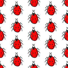 Pattern with ladybugs