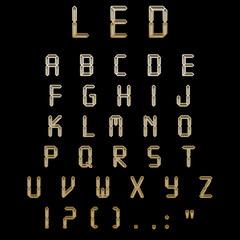 Led alphabet grey