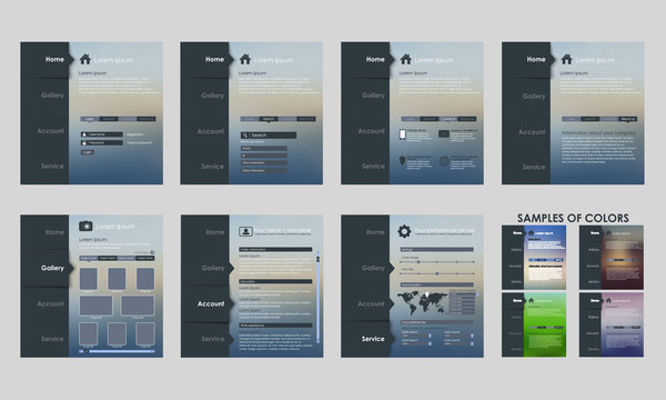 Design vector template interface